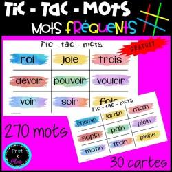 Jeu Tic-Tac-Mots | Étude des mots fréquents