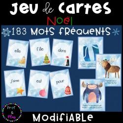 Jeu de cartes - Noël / Mots fréquents