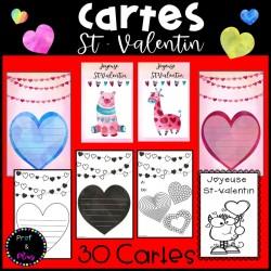 Cartes pour la Saint-Valentin