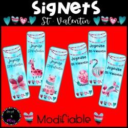 Signets MODIFIABLES pour la Saint-Valentin