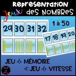 Jeux représentation des nombres-Dizaines et unités