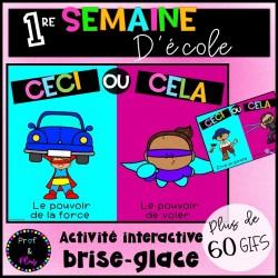 Activité brise-glace- Interactif- Rentrée scolaire