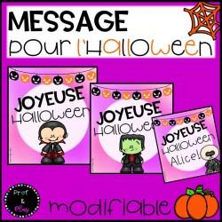 Cartes/messages modifiables - Halloween