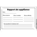 Rapport de suppléance