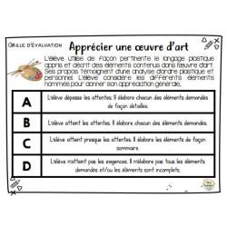 Grille d'évaluation ARTS - C3 Apprécier