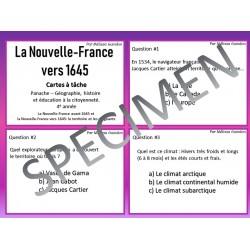 Cartes à tâche: Nouvelle-France vers 1645