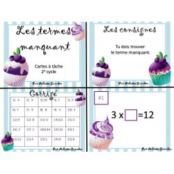 Cartes à tâche: terme manquant multiplication