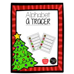 Alphabet à tracer - Noël