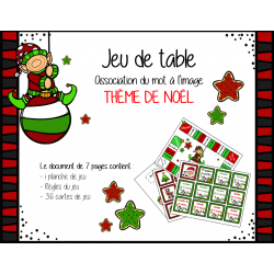 Jeu de table - Noël (lecture)