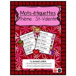 Mots étiquettes - St-Valentin (2 formats)