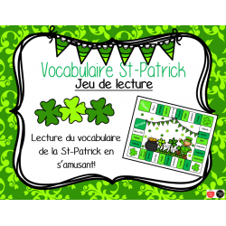 Jeu de vocabulaire - St-Patrick