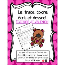 Lis, colorie, trace, écris et illustre - Valentin