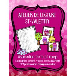 Atelier lecture - Texte descriptif (St-Valentin)