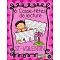 Casses-têtes de lecture - St-Valentin