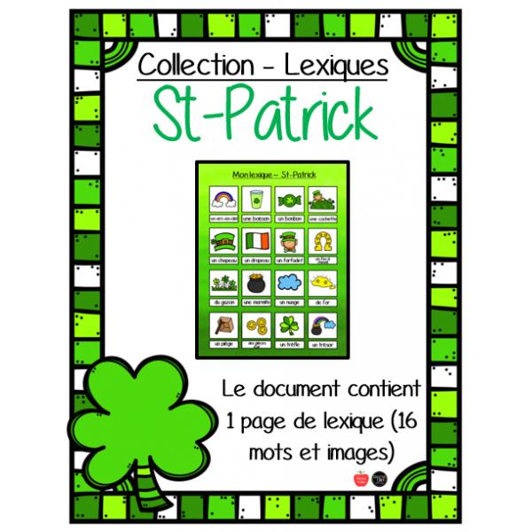 Mon Lexique - St-Patrick
