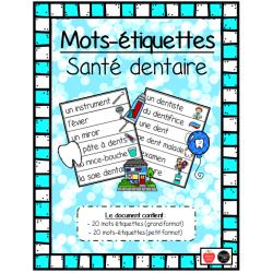 Mots-étiquettes (2 formats) - Santé Dentaire