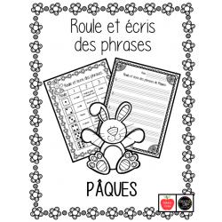 Roule et écris des phrases - Pâques