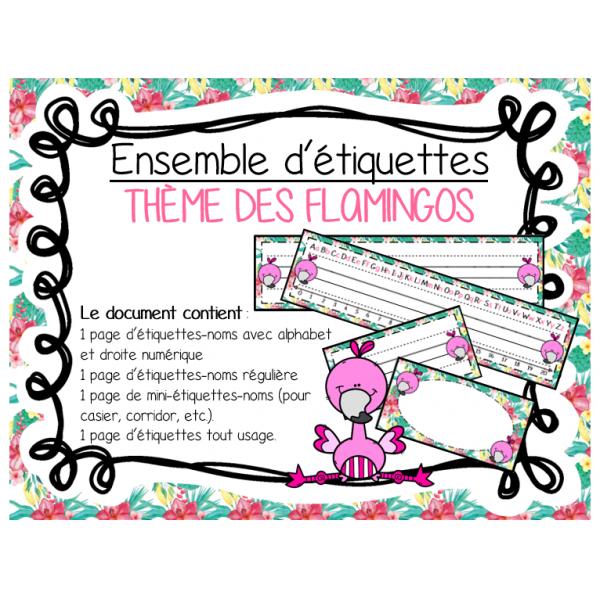 Étiquettes - Flamant rose