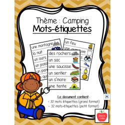 Mots-étiquettes - Camping (2 formats)