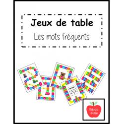 Jeux de table - Les mots fréquents