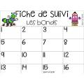 Cartes à tâches-Les bonds 2,3,5 et 10