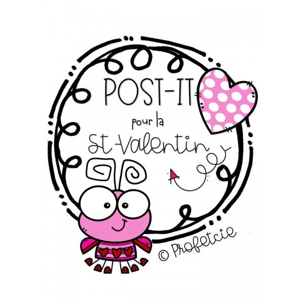 """Post-it"" St-Valentin"