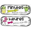 Affiches réserve et étiquettes pour l'horloge
