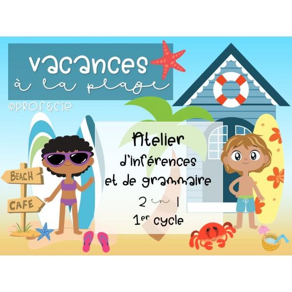 Vacances à la plage (atelier 2 en 1)