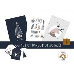 Cartes et étiquettes de Noël
