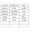 La pâtisserie des adjectifs