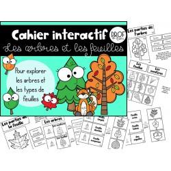 Cahier interactif: les arbres et les feuilles