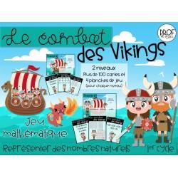 Le combat des Vikings (jeu mathématique) 2 niveaux