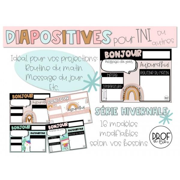 Diapositives modifiables *Série hivernale