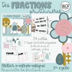 Des fractions printanières (2 niveaux)