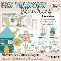 Des maisons fleuries (nombres pairs et impairs)