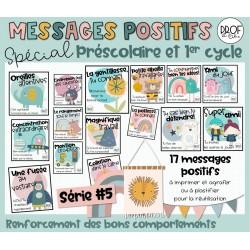 Messages positifs (série #5) *Présco et 1er cycle