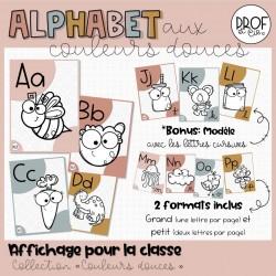 Alphabet aux couleurs douces