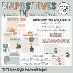 Diapositives modifiables *Série automnale
