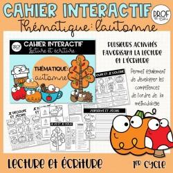 Cahier interactif (L'automne) lecture et écriture