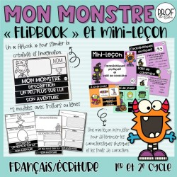 FLIPBOOK Mon monstre et mini-leçon
