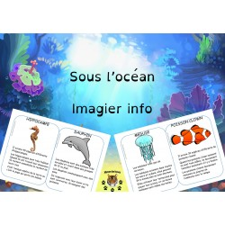 Imagier avec informations sous l'océan
