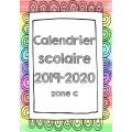 Calendrier année scolaire 2019-2020
