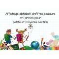Affichage alphabet, chiffres, couleurs et formes