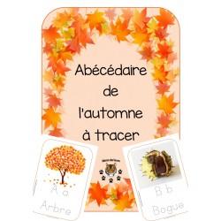 Abécédaire de l'automne avec  lettres à tracer