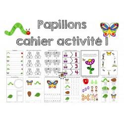 Cahier d'activités les papillons