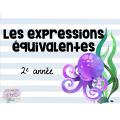 Les expressions équivalentes - cartes à tâche