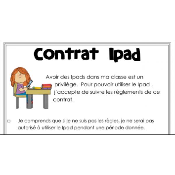 Contrat et certification Ipad