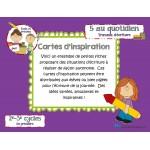Cartes d'inspiration (travaux écriture)