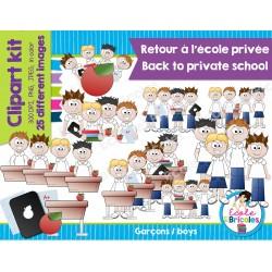 Clipart-Retour à l'école privée (garçons)