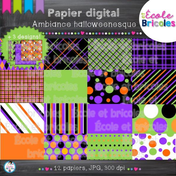 Papier digital-Docudéco Ambiance halloweenesque